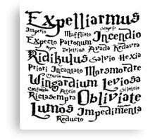 Harry Potter Magic Spells mantra Canvas Print