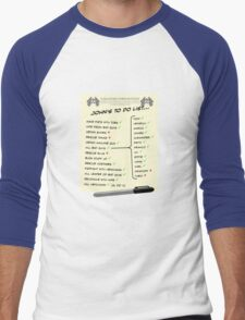 John McClane's To Do List Men's Baseball ¾ T-Shirt