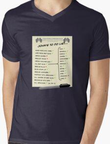 John McClane's To Do List Mens V-Neck T-Shirt