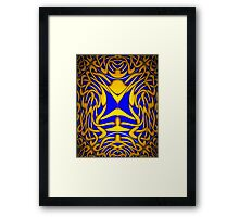 A Celtic Knot design in Blue and Gold (2) for skirts, leggings and all other designs Framed Print