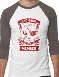 Cat Gang Member Graphic Men's Baseball ¾ T-Shirt