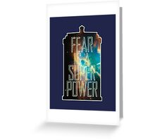 FEAR. Greeting Card