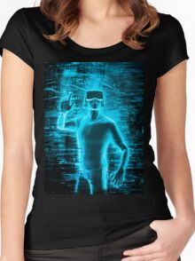 Virtual Reality User Women's Fitted Scoop T-Shirt