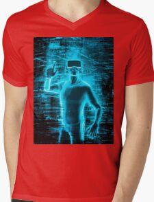 Virtual Reality User Mens V-Neck T-Shirt