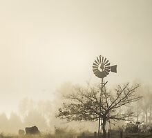 Windmill in the Fog by yolanda