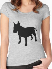Bull terrier silhouette Women's Fitted Scoop T-Shirt