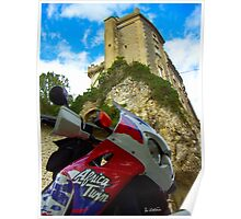 Africa twin on the road Poster