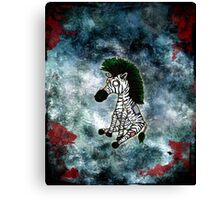 Zazzles the Zombie Zebra Canvas Print