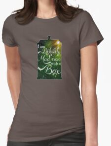 I am definitely a mad man with a box... Womens Fitted T-Shirt