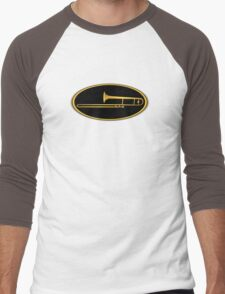 Gold Trombone Men's Baseball ¾ T-Shirt
