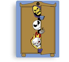 Skeletons in the Cupboard! Canvas Print