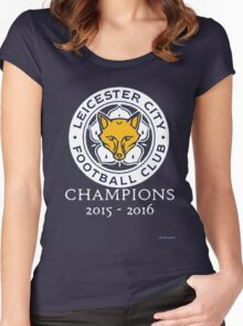 Leicester City - Champions 2015 - 2016 Women's Fitted Scoop T-Shirt