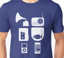 The History Of Portable Music Devices in Six Easy Steps Unisex T-Shirt