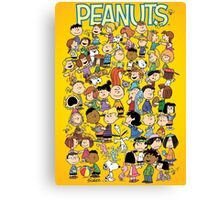 charlie brown yellow peanuts Canvas Print