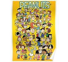 charlie brown yellow peanuts Poster