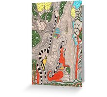 The forest. Animals familiar and unfamiliar. Greeting Card