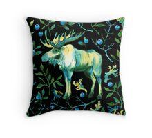 Watercolor elk Throw Pillow