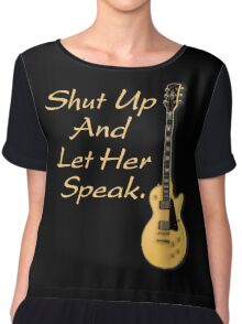 Let her speak Chiffon Top
