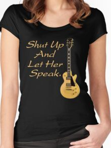 Let her speak Women's Fitted Scoop T-Shirt