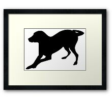 English foxhound dog silhouette Framed Print