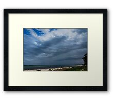 Watching the Rain rolling on in.. Framed Print