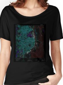 USGS TOPO Map Alabama AL Mobile 304576 1953 24000 Inverted Women's Relaxed Fit T-Shirt