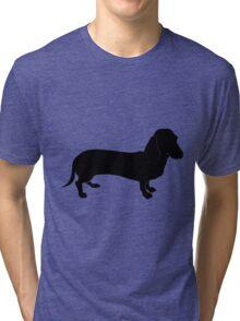 Bullmastiff dog silhouette Tri-blend T-Shirt