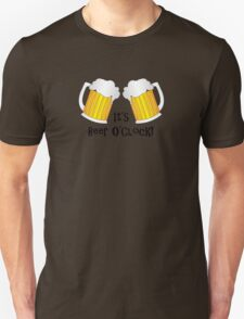 It's Beer O'Clock Funny Oktoberfest Frothy Pint Glasses Unisex T-Shirt