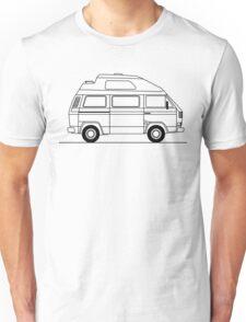 Transporter Hightop camper line art Unisex T-Shirt