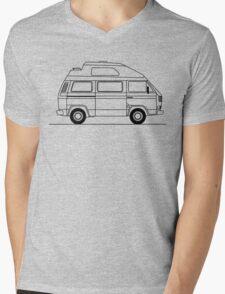Transporter Hightop camper line art Mens V-Neck T-Shirt