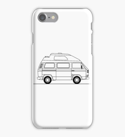 Transporter Hightop camper line art iPhone Case/Skin