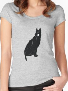 Black bull terrier Women's Fitted Scoop T-Shirt
