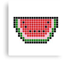 8 bit pixel watermelon Canvas Print