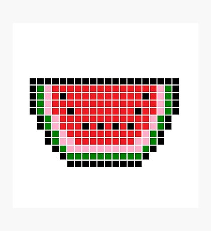 8 bit pixel watermelon Photographic Print