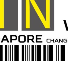 Destination Singapore Airport Sticker