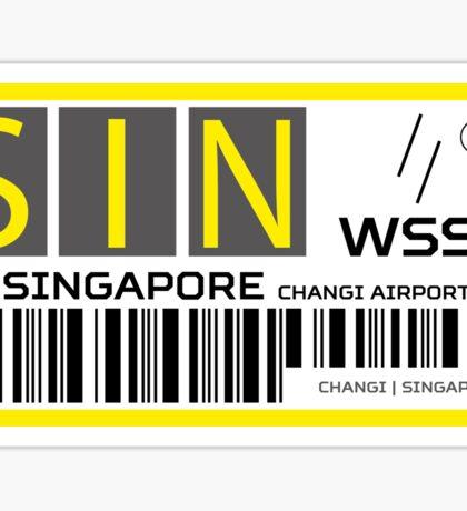 Destination Singapore Airport Sticker