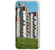 residential quarter in evening in natural sunlight iPhone Case/Skin