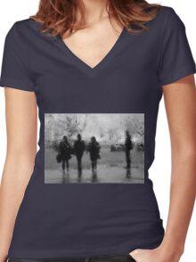 3 + 1 Women's Fitted V-Neck T-Shirt