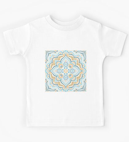 Symmetry blue and yellow Kids Tee