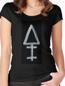Alchemical Symbols - Phospohorous One Inverted Women's Fitted Scoop T-Shirt