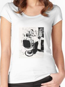 The Barber Women's Fitted Scoop T-Shirt