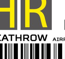Destination London Heathrow Airport Sticker