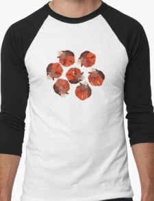 curled fox polka mint Men's Baseball ¾ T-Shirt