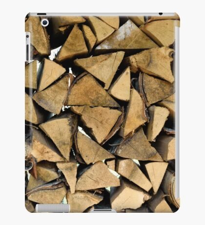 background of many logs and timbers of woodpile  iPad Case/Skin