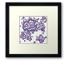 Purple CrossSection Framed Print