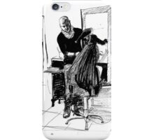 beautiful hairdresser  iPhone Case/Skin