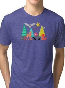 midnight woodland Tri-blend T-Shirt