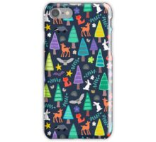 midnight woodland iPhone Case/Skin