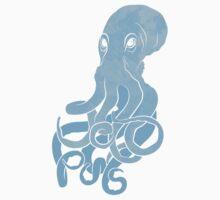 Blue Octopus One Piece - Long Sleeve