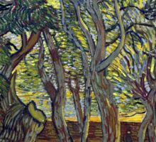 Vincent van Gogh The Garden of Saint Paul's Hospital Sticker